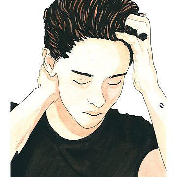 Kristen Stewart Watercolor by artofsen