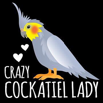 Crazy cockatiel Lady with Grey Weiro bird by jazzydevil