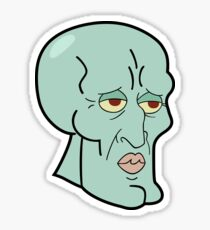 Handsome Squidward Sticker. Sticker