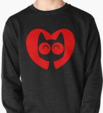 Cute Cartoon Cat In A Heart by Cheerful Madness!! Pullover