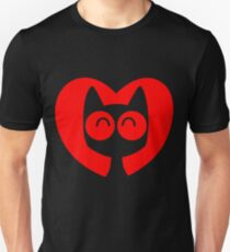 Cute Cartoon Cat In A Heart by Cheerful Madness!! Unisex T-Shirt