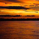 Mekong Sunset by ianclavis