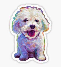 Cute  Bichon Frise Sticker