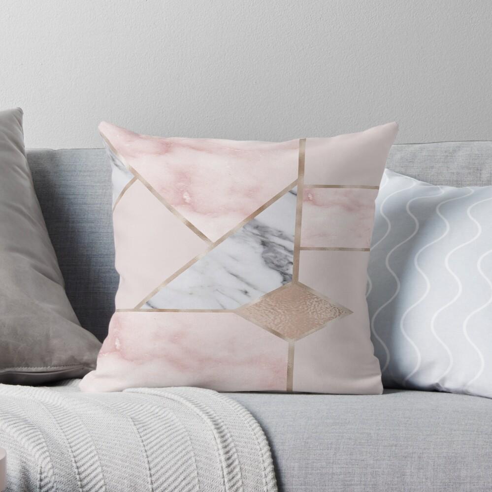 Mezcla geométrica - oro rosa Cojín