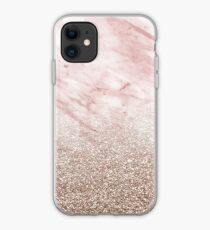 Rose gold champagne glitter gradient iPhone Case