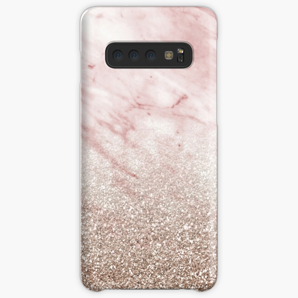 Rose gold champagne glitter gradient Case & Skin for Samsung Galaxy