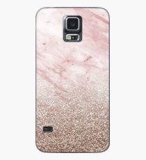 Rose gold champagne glitter gradient Case/Skin for Samsung Galaxy