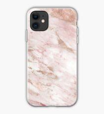 Vinilo o funda para iPhone Rosa mármol - detalles en oro rosa