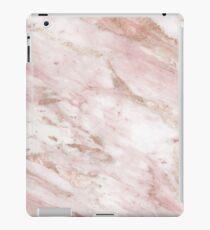 Rosa Marmor - Roségold Akzente iPad-Hülle & Klebefolie
