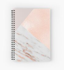 Blush pink layers of rose gold and marble Spiral Notebook