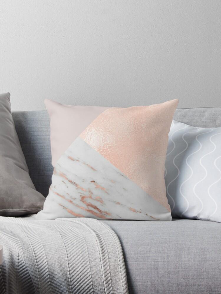 Erröten rosa Schichten von Roségold und Marmor von marbleco