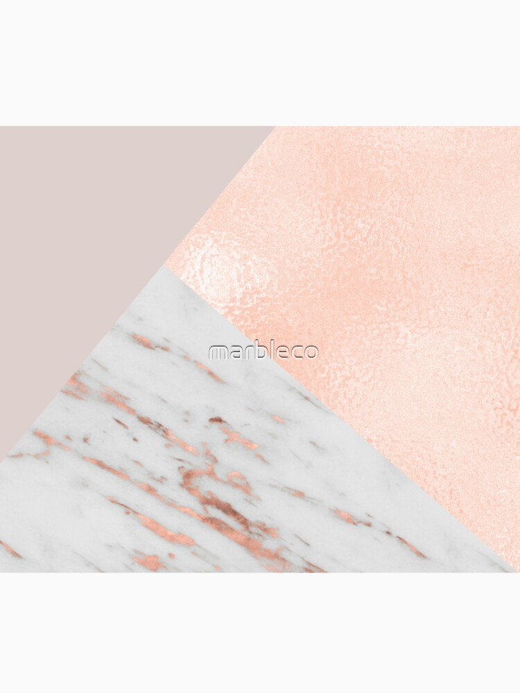 Blush pink layers of rose gold and marble by marbleco
