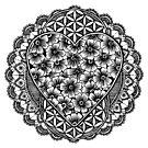 Blume des Lebens Mandala von georgiamason