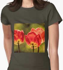 Glowing Red Tulips T-Shirt