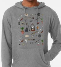 Owl and wand Lightweight Hoodie