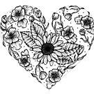 Blumenliebes-Herz von georgiamason