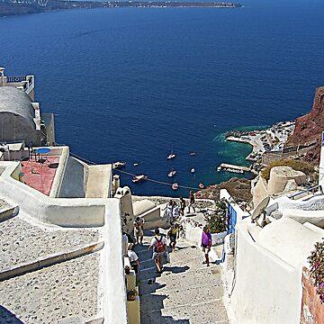 Santorini Caldera from Fira III by tomg