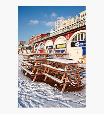 Urban snow Photographic Print