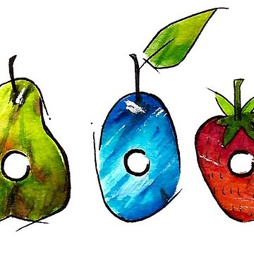 The Very Hungry Caterpillar Fruit (White) by MariaKramer