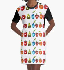 The Very Hungry Caterpillar Fruit (White) Graphic T-Shirt Dress