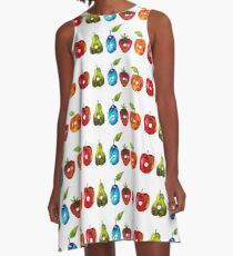 The Very Hungry Caterpillar Fruit (White) A-Line Dress