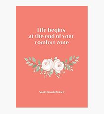 Neale Donald Walsch inspirational saying, Pantone Fusion Coral Photographic Print