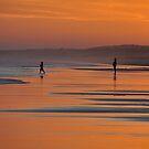 Beach Silhouettes - Redhead Beach NSW Australia by Bev Woodman