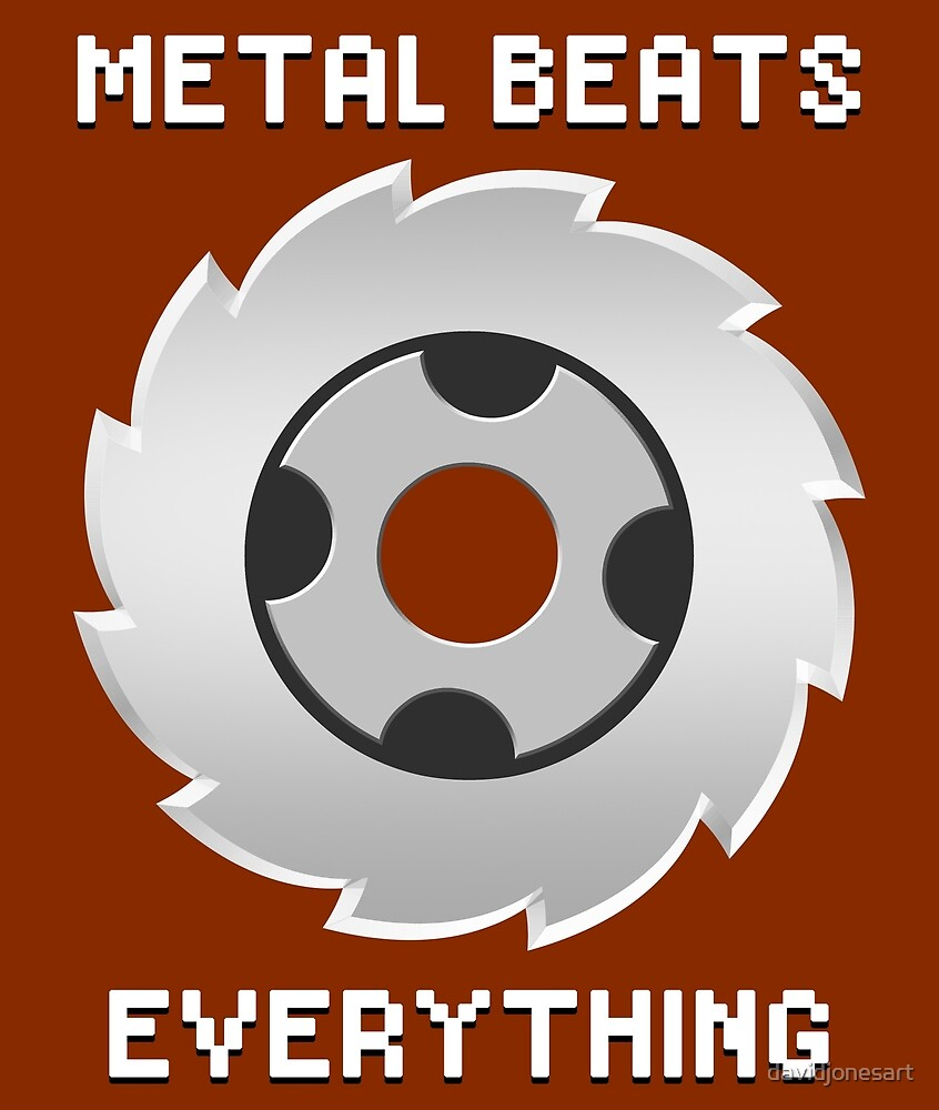 Metal Beats Everything by davidjonesart