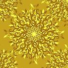 Floral Golden Pattern by elangkarosingo
