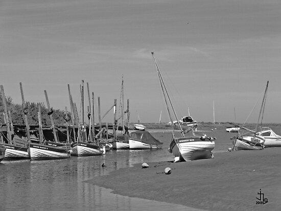 Blakeney Quay North Norfolk in Monochrome by johnny2sheds