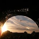 The Eiffel Tower at sunset by marv42