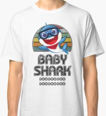 Baby Shark Retro (Boy) - For Light Classic T-Shirt