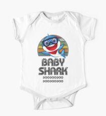 Body de manga corta para bebé Baby Shark Retro (Boy) - Para Light
