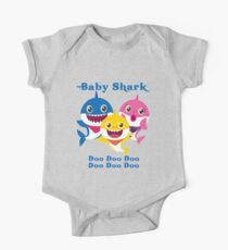 Baby Shark Doo Doo Doo Kids Gift One Piece - Short Sleeve