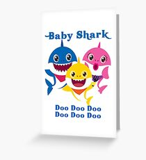 Baby Shark Doo Doo Doo Kids Gift Greeting Card
