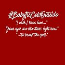Baby It's Cold Outside Lyrics WHITE Text by Hip2BeSquare