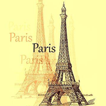Eiffel Tower, Paris France by NaturePrints