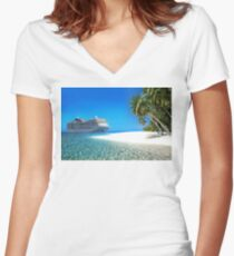 Caribbean Cruise Women's Fitted V-Neck T-Shirt