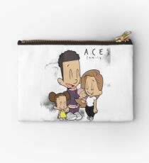 Ace - White Marble Studio Pouch