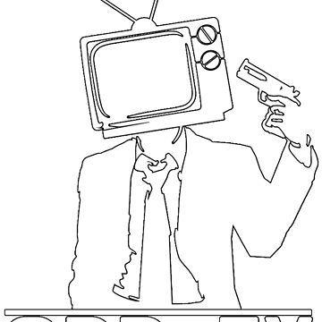 ODD Gunman White Logo by ODDTV