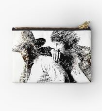 Bruce and Clarence Drawing 1 WallsOfFameAust Zipper Pouch