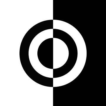 Black and White Target Design by PeppermintClove