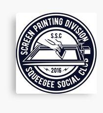 Screen Printing  Canvas Print