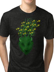Sea Buffalo Dreaming Green Heart  Tri-blend T-Shirt