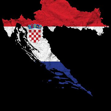 'Croatia' Flag Croatia  by leyogi