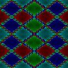 Newton Raphson Fractal Seamless Pattern VI by shane22