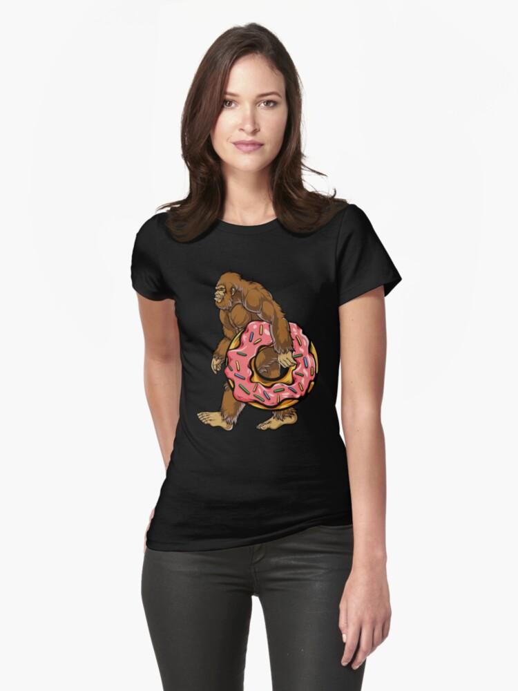 3b2a133d Bigfoot Donut T shirt Sasquatch Women Kids Donuts Sprinkle Fitted T-Shirt