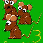 Three Brown Mice design. by Dennis Melling