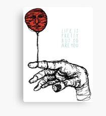 Life Is Pretty Canvas Print