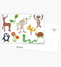 Cute Nature Vectors Postcards